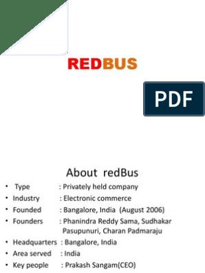 REDBUS | Sales | Marketing