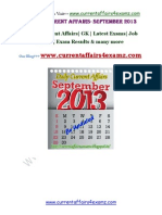 September 2013-Complete Current Affairs