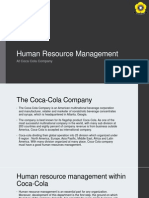 Human Resource Management at Coca Cola Company