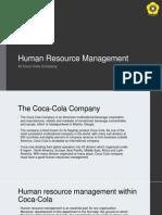 Human Resource Management at Coca Cola Company