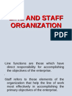 Line and Staff Organization