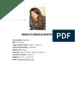 CV Flor ejemplo