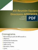 VIII Reunión Equipos Directores APRENDER Blog