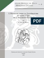 De Walle Lhumour Dans La Littérature Et Dans l'Art de l'Ancienne Égypte