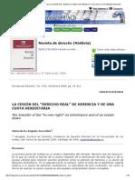 Revista de Derecho (Valdivia) - _b_la Cesión Del _derecho Real_ de Herencia y de Una Cuota Hereditaria__b