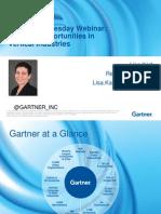 Gartner Big Data Opportunities in Industries
