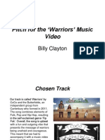 Pitch for the 'Warriors' Music Video
