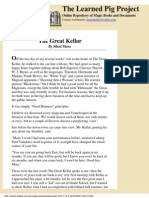 Silent Mora - The Great Kellar