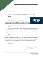 Carta de Presentacion de una Empresa