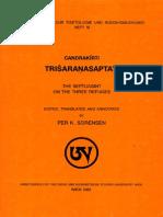 Candrakirti - Trisaranasaptati (Ed. Sorensen)