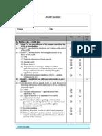 AGM Checklist
