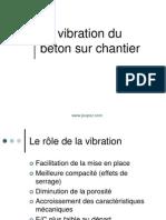 La Vibration Du Beton Sur Chantier