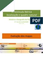 A Península Ibérica - Localização