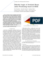 Impact of the Dihedral Angle of Switched Beam Antennas in Indoor Positioning Based on RSSI