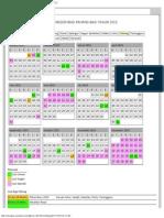 Kalendar Cuti Umum & Cuti Negeri Bagi Pahang Tahun 2015