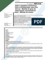 Abnt Nbr 8148 - Papeis E Papeloes Celulosicos Novos E Envelhecidos Para Fins Eletricos - Medida D