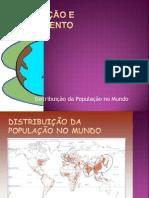 Distrubuição População Povoamento