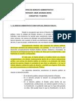 Conceptos y Fuentes del Derecho Administrativo