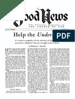 Good News 1954 (Vol IV No 01) Jan
