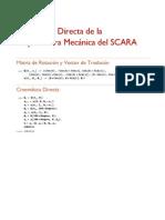 Cinematica Directa Robot SCARA
