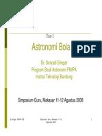 Astronomi Bola _ITB