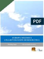 EUROPA NECESITA UNA REVOLUCION DEMOCRATICA