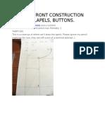 Front Construction Lapels Buttons