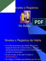Niveles o Registros de Habla