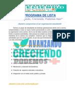 Programa AVANZANDO, CRECIENDO, PODEMOS MÁS CEE AUDI 2015