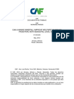 CAN A MINING WINDFALL IMPROVE WELFARE? EVIDENCE FROM PERU WITH MUNICIPAL LEVEL DATA