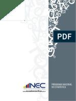 Programa Nacional de Estadiprograma estadistica ecuador