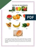 Frutas de Galapagos