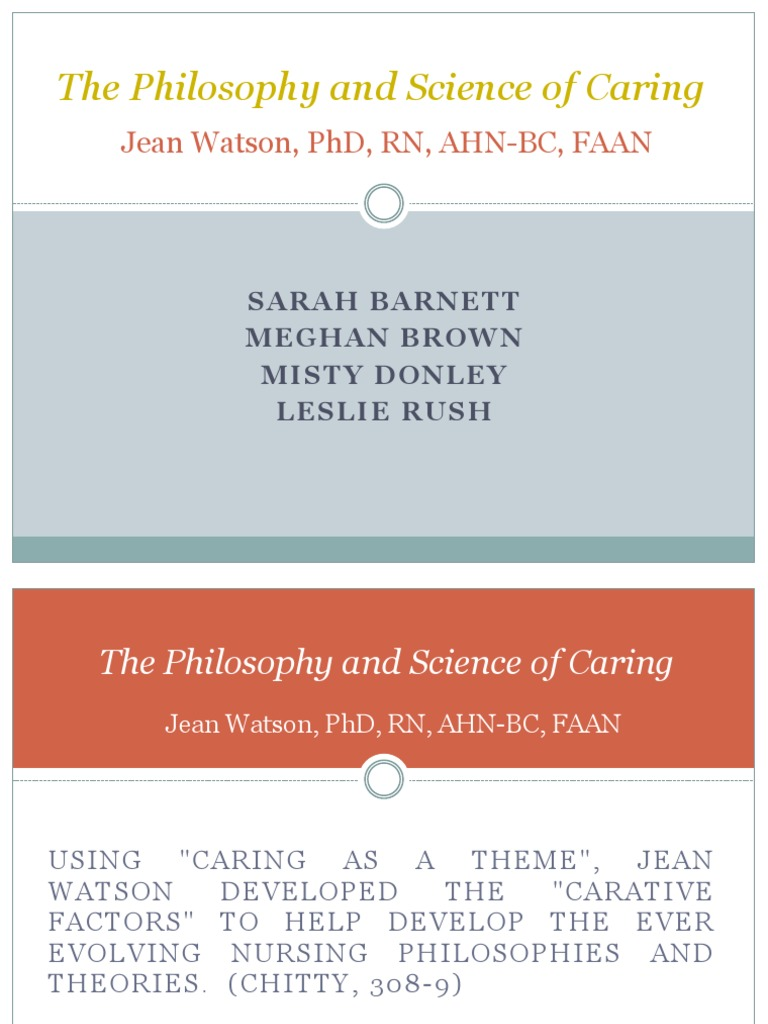 jean watson nursing theory philosophy and science of caring