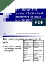 8 Contemporary Issues in Recruitment BT -MercerTNS Survey