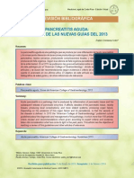 pancreatitis aguda revision 2013