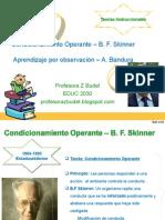 teoria Skinner y Bandura