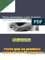 Amenaza de Parto Prematuro . Version Schwarcz
