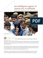 Insight Indian Intelligence Agency on the Cheap Hampers War on Militants