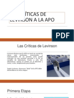LAS CRÍTICAS DE LEVINSON A LA APO (1).pptx