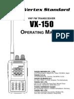 Yaesu Vx 150 Operating Manual