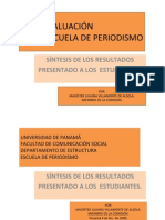 RES AUTOEVALUACION PERIODISMO 2009