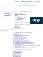 Beginning Molecular Biology Laboratory Manual-UMBC.2003 [Por Trisquelion]