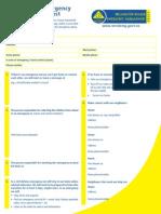 Disaster Risk Management Family Emergency Plan for Staff