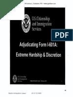I-601A Waiver USCIS Training Materials