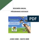 Resumen Programas Sociales Final 2008 2009