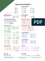 Trigonometric Identities Complete Formula