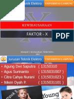 Kewirausaahaan Faktor x