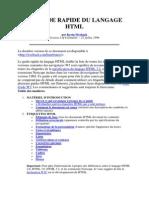 Le Guide Rapide Du Langage HTML