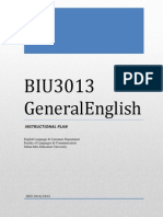 Instructional Plan GE BIU 3013 Sem 1