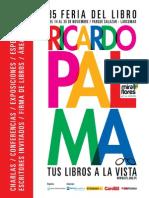 Programación de la Feria Ricardo Palma
